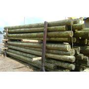 Деревянные опоры ЛЭП, деревянные столбы для линий электропередач (ЛЭП) и связи фото