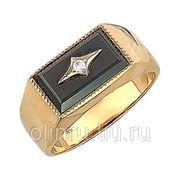 Мужское кольцо из комбинированного золота 585 пробы фото