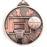 Медаль Баскетбол бронза фото