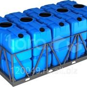 Пластиковая ёмкость в обрешётке 2000 литров (5 kpl) Арт.SK 2000x5 фото