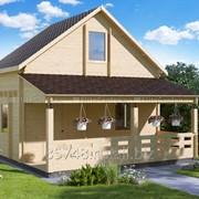 Садовый домик двухэтажный 6040 фото