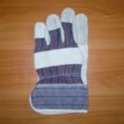 Перчатки спилковые комбинированные фото