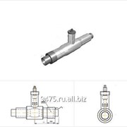 Кран шаровой стальной в оцинкованной трубе-оболочке с металлической заглушкой изоляции и торцевым кабелем вывода d=45 мм, s=3 мм, L=1800 мм фото