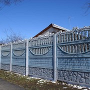 Декоративный забор из железобетона фото