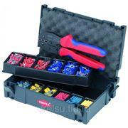 Инструмент для опрессовки кабеля Knipex Набор кабельных наконечников с инструментом для опрессовки 979021 фото