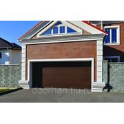 Ворота секционные серии YETT01S №5 коричневые ширина 2750 высота 2235 фото