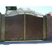 Ворота обычные фото