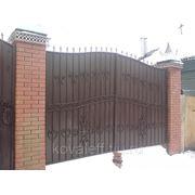 Кованые ворота арт. ВК-023 фото