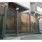 Ворота распашные арт.1 Алматы фото
