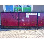 Ворота ковані фото