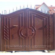 Ворота металлические с калиткой в херсоне откатные ворота цены комплектующие в москве