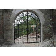 Кованые ворота, калитки, откатные ворота фото