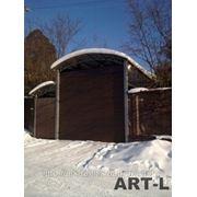 Ролетные гаражные ворота фото