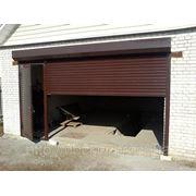 Ворота рулонные гаражные Hardwick с калиткой фото