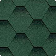 Битумная черепица SHINGLAS (Шинглас) САМБА Зелёный фото