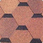 Битумная черепица SHINGLAS (Шинглас) КЛАССИК КАДРИЛЬ Красно-коричневый фото