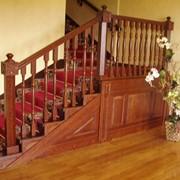 Лестница массив дуба фото