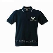 Рубашка поло Great Wall черная с полоской фото