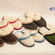 Тапочки, пантолеты, обувь домашняя из натуральной овечьей шерсти фото