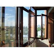 Остекление балкона ламинированным профилем фото