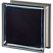 Стеклоблок окрашенный внутри Гладкий MENDINI Черный 100% VETROARREDO фото