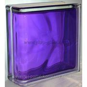 Стеклоблок торцевой Волна аметист 190х190х80мм VITRABLOC фото