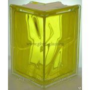 Стеклоблок угловой Волна желтый 90градусов VITRABLOC фото