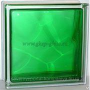 Стеклоблок окрашенный внутри Волна Изумруд 190х190х80мм VITRABLOC фото