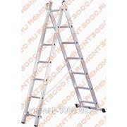 БИБЕР 98433 Лестница универсальная 2-х секционная13 ступеней / BIBER 98433 Лестница универсальная двухсекционная алюминиевая 13 ступеней