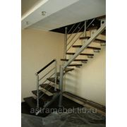 Лестницы деревянные на металлокаркасе