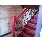 Кованные перила и лестнечные ограждения. фото