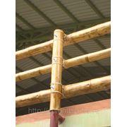 Перила из бамбука фото