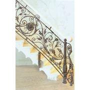 Кованые перила для лестницы заказать в Барнауле. фото