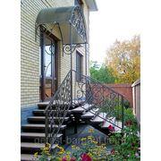 Уличные металлические лестницы.Входные группы. фото