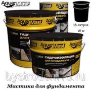 Мастика битумная AquaMast 18кг фото