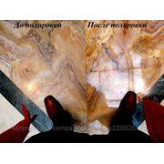 Полировка, шлифовка мрамора и гранита. Кристаллизация. фото