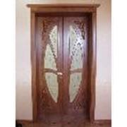 Двери 2-х створчатые (Окна, двери, стекло, перегородки, изделия столярные) фото