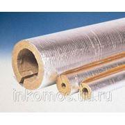 Фольгированный базальтовый утеплитель ROCKWOOL, длина 1м, толщина 60мм, на трубу диаметром 57мм