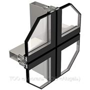 Алюминиевый профиль — система структурного остекления фото