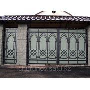 Ворота распашные (4х2,3, калитка 1х2,2) фото