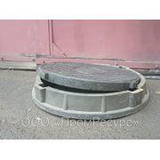 Люк смотрового колодца полимер-песчаный тип «ТМ» 25тн фото