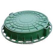 """Люк для колодца ПП-630 ТИП """"Т"""" зеленый, серый, черный фото"""