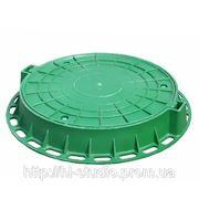 Люк пластиковый зеленый фото