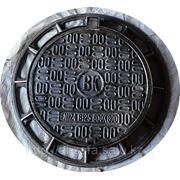 Люк канализационный из высокопрочного чугуна с шарниром и замком ВК -В125 фото