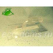 Гладилка прозрачная TR/S-101 для жидких обоев и декоративных штукатурок, лазурей, восков 130х280х3,5мм фото