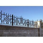 Забор кованый, ограждения из металла, забор металлический фото
