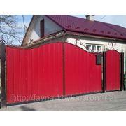Ворота с калиткою закрытые профнастилом 3000 грн. фото