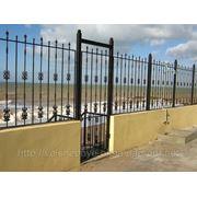Кованый забор в Крыму фото