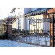 Ворота кованые, ворота распашные, металлические ворота фото