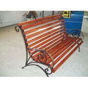 Кованная скамейка фото